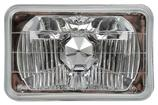 "4"" x 6"" Rectangular Diamond Cut Headlamp"