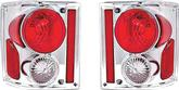 1973-91 GM Truck Chrome  G-I Series Euro Tail Lamps