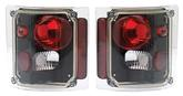 1973-91 GM Truck Black  G-I Series Euro Tail Lamps