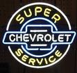"22"" X 24"" Super Chevrolet Service Neon Sign"