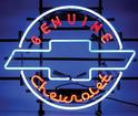 23 X 27 GENUINE CHEVROLET BOW TIE NEON SIGN