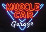 "23"" X 23"" Muscle Car Garage Neon Sign"