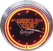 15 MUSCLE CAR GARAGE NEON CLOCK