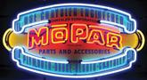 32 X 17 VINTAGE MOPAR PARTS AND ACCESSORIES NEON SIGN