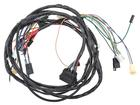 1971 8 Cylinder Front Light Harness With Console Gauges And RH Internal Regulated Alternator