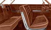 1963 IMPALA 2 DOOR HARDTOP SADDLE VINYL UPHOLSTERY SET