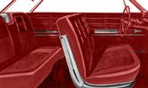 1963 IMPALA 2 DOOR HARDTOP RED VINYL UPHOLSTERY SET