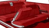 1964 Impala 2 Door Hardtop With Bench Light & Medium Red Cloth / Red Vinyl Upholstery Set