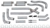 "1968-78 X-Body / 1970-81 F-Body 3"" Header Back / Rear Exit Dual Exhaust System with Race Pro Muffler"
