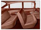 1959 IMPALA  4 DOOR SEDAN LIGHT/MED COPPER/DARK BROWN CLOTH & DARK/LIGHT BROWN VINYL UPHOLSTERY SET