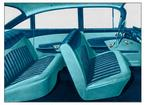 1959 Impala 4 Door Sedan Light/Med/Dark Turquoise Cloth & Light/Dark Turquoise Vinyl Upholstery Set