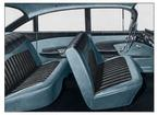 1959 IMPALA  4 DOOR SEDAN LIGHT/MED/DARK GRAY CLOTH & LIGHT/MEDIUM GRAY VINYL UPHOLSTERY SET