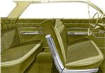 1962 Impala 4 Door Sedan With Front Bench Seat Gold & Black Cloth / Gold Vinyl Upholstery Set