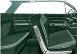 1962 Impala 4 Door Sedan With Front Bench Seat Green & Black Cloth / Green Vinyl Upholstery Set
