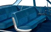 1964 Impala 6 Passenger Wagon Light & Medium Blue Cloth / Blue Vinyl Upholstery Set