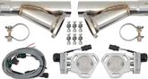 "Pypes Dual Electric Cutout Set w/Y-Pipes (Dump Legs) For 2.5"" Exhaust"
