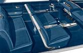 1963 IMPALA SS HARDTOP WITH FRONT BUCKET SEATS BLUE VINYL UPHOLSTERY SET