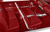 1963 IMPALA SS CONVERTIBLE WITH FRONT BUCKET SEATS RED VINYL UPHOLSTERY SET