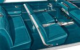 1963 IMPALA SS CONVERTIBLE WITH FRONT BUCKET SEATS AQUA VINYL UPHOLSTERY SET