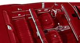 1965 IMPALA SS CONVERTIBLE WITH FRONT BUCKETS RED VINYL / RED CARPET UPHOLSTERY SET