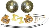 "1947-59, 62-81 Chevy 10/12 Bolt Rear End Rear Disc Brakes Set w/10-1/2"" Drilled Rotors (5 x 4-3/4"")"