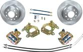 "1955-81 9"" Ford Rear End Rear Disk Brake Upgrade Set with 10-3/4"" Plain Rotors"
