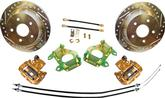 1955-81 9 FORD REAR END REAR DISK BRAKE UPGRADE SET WITH 12 PLAIN ROTORS