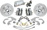 "1958-64 Chevrolet Electronic Front Disc Brake System with 10-3/4"" Drilled and Slotted Rotors"
