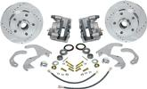"1955-64 Impala/Full Size Front Disc Brake Conversion Set With 10-3/4"" Drilled/Slotted Rotors"