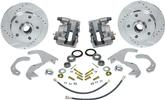 "1958-64 Impala/Full Size Front Disc Brake Conversion Set with 12"" Drilled/Slotted Rotors"