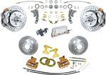 "1965-68 Impala/Full Size Front Disc Brake Conversion Set with 12"" Drilled/Slotted Rotors"