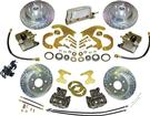 "1955-57 Front & Rear Electronic Disc Brake Set w/EHPM, 1 Piston Calipers, 12"" Slotted Rotors"