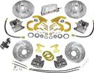 "1955-57 Front & Rear Electronic Disc Brake Set w/EHPM, 1 Piston Calipers, 13"" / 12"" Slotted Rotors"