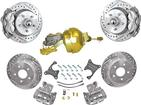 "1955-57 Chevrolet Front / Rear Disc Brake System with Booster and 13"" / 12"" Drilled/Slotted Rotors"
