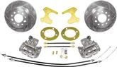 "1955-57 Chevrolet Stock Rear End Bolt-On Rear Disc Upgrade Set with 12"" Drilled / Slotted Rotors"