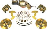 "1963-72 Mopar A-Body 9"" Drums 5x4"" Power Front Disc Brake Upgrade to 5 x 4-1/2"" with Plain Rotors"
