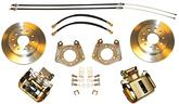 1962-74 MOPAR WITH 1 PIECE AXLE / 5X4-1/2 BOLT-ON REAR DISC BRAKE UPGRADE SET WITH PLAIN ROTORS
