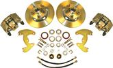 "1965-72 A-Body 10"" Drums / 5 x 4-1/2"" Bolt Pattern Front Disc Brake Conversion Set with Plain Rotors"