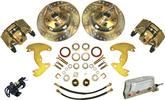 1965-72 A-BODY 10 DRUMS / 5X4-1/2 ELECTRONIC FRONT DISC BRAKE UPGRADE SET WITH DRILLED ROTORS