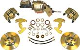 1965-72 A-BODY WITH 10 DRUMS / 5X4-1/2 BOLT PATTERN POWER FRONT DISC BRAKE UPGRADE PLAIN ROTORS