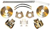 1962-76 MOPAR WITH LOCK NUT AXLE / 5 X 4-1/2 BOLT-ON REAR DISC BRAKE UPGRADE SET WITH PLAIN ROTOR