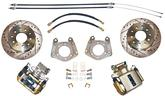 1962-76 MOPAR WITH 1 PIECE AXLE / 5X4-1/2 BOLT-ON REAR DISC BRAKE UPGRADE SET WITH DRILLED ROTORS