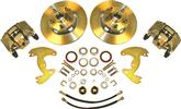 "1965-69 B-Body 10"" Drums / 5 X 4-1/2"" Bolt Pattern Front Disc Brake Conversion Set With Plain Rotors"