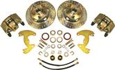 "1963-72 A-Body 9"" Drums/5x4"" Bolt Pattern Front Disc Brake Conversion Set with Drilled Rotors"