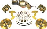 "1963-72 A-Body 9"" Drums / 5X4"" Power Front Disc Brake Upgrade Set With Plain Rotors"