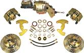 "1963-72 Mopar A-Body with 9"" Drums 5 x 4"" Power Front Disc Brake Upgrade Set with Drilled Rotors"