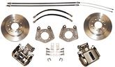 1963-72 MOPAR WITH 1 PIECE AXLE / 5X4 BOLT-ON REAR DISC BRAKE UPGRADE SET WITH PLAIN ROTORS