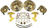 "1965-72 A-Body 10"" Drums / 5x4"" Bolt Pattern Front Disc Brake Conversion Set with Drilled Rotors"