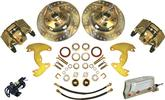 "1965-72 A-Body 10"" Drums / 5x4"" Electronic Front Disc Brake Upgrade Set with Drilled Rotors"