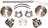 1963-72 MOPAR WITH LOCK NUT AXLE / 5 X 4 BOLT-ON REAR DISC BRAKE UPGRADE SET WITH PLAIN ROTORS
